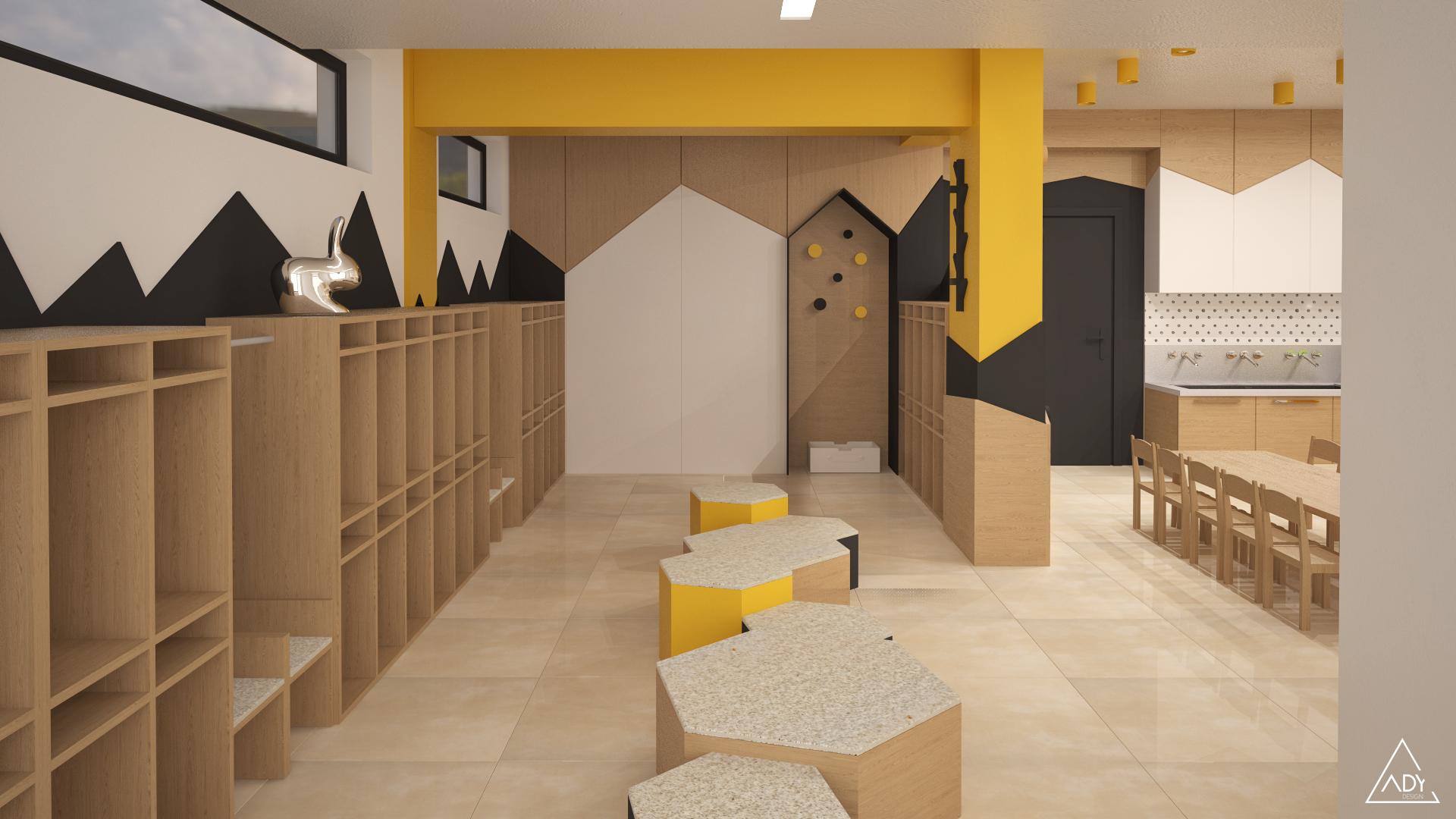 3D plan cubbies area
