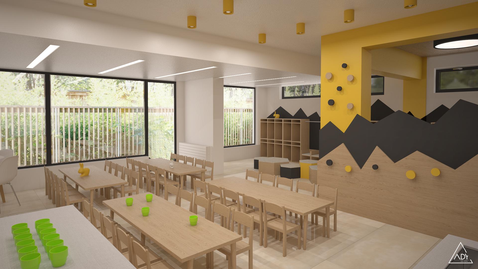 3D plan dining area