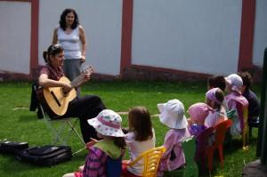 Music class outdoors